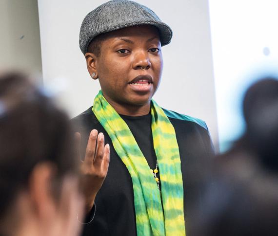 college student speaking